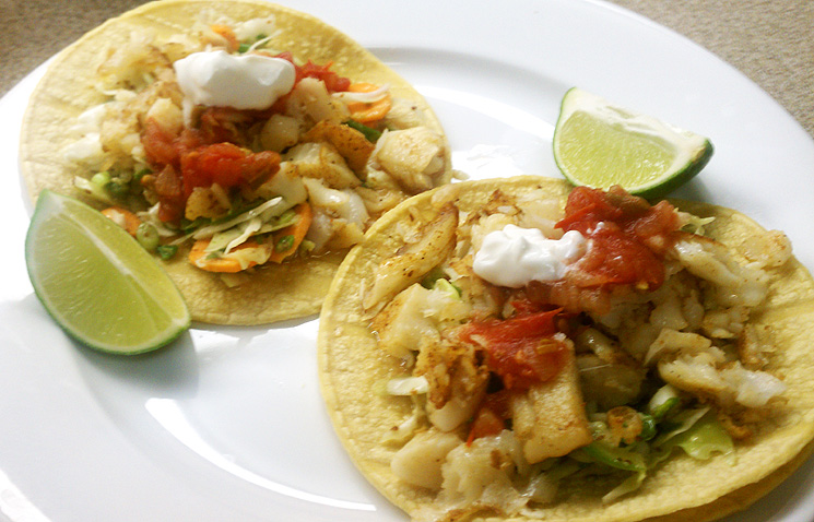 Fish tacos healthy but tasty for Flounder fish tacos