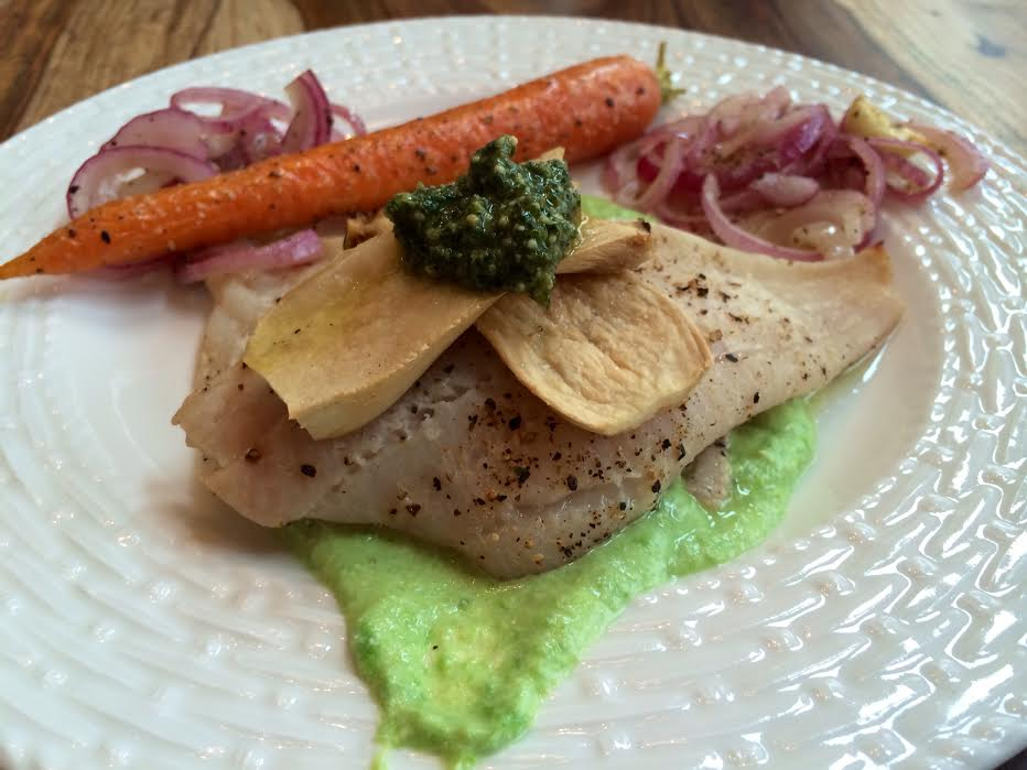 Dover Sole with Pea Puree